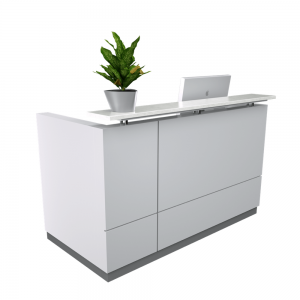 reception-desk-with-plant-and-computer
