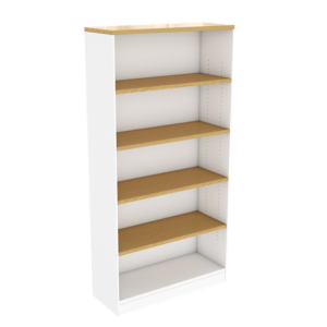 wooden-bookcase-adjustable-shelves